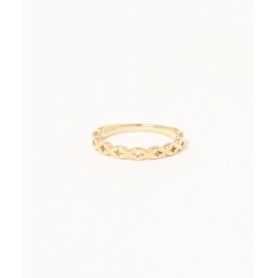 指輪 【K10YG】パターン リング クロス