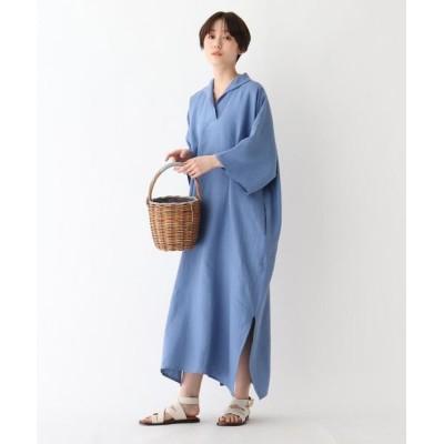 DRESSTERIOR/ドレステリア DOU BOCHI リネンワイドドレス ブルー(092) 02(M)