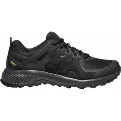 キーン メンズ ブーツ・レインブーツ シューズ KEEN Men's Explore Waterproof Hiking Shoes Black/Magnet