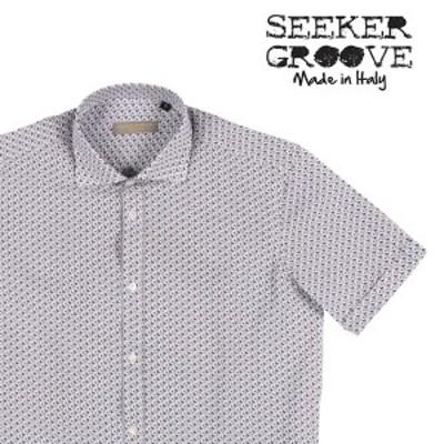 SEEKER GROOVE(シーカーグルーブ) 半袖シャツ LONG S/S ホワイト x ネイビー XL 22731 【S22734】