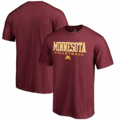 Fanatics Branded ファナティクス ブランド スポーツ用品  Fanatics Branded Minnesota Golden Gophers Garnet True Sport Volleyball T-