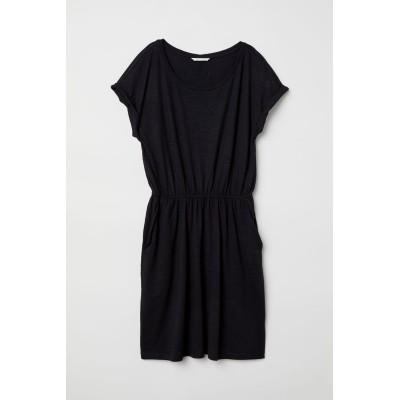 H&M - ジャージーワンピース - ブラック