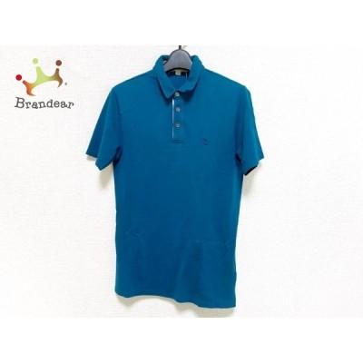 バーバリーブリット BURBERRY BRIT 半袖ポロシャツ サイズS メンズ 美品 ブルー 新着 20200811