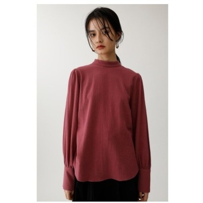 FALL COLOR PUFF SLEEVE TOP