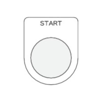 トラスコ中山 tr-4384776 IM 押ボタン/セレクトスイッチ(メガネ銘板) START 黒 φ25.5 (tr4384776)