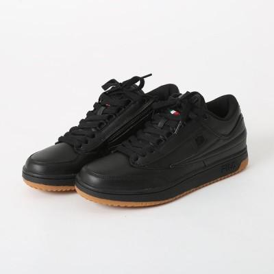 FILA zipper Leather BLACK