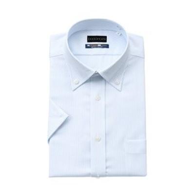 【半袖】【NON IRONMAX COOL】【ボタンダウン】スタイリッシュワイシャツ