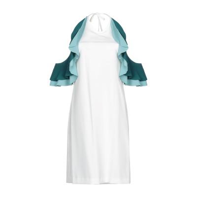 アンナリータ エンネ ANNARITA N ミニワンピース&ドレス ホワイト 46 ポリエステル 95% / ポリウレタン 5% / アセテート /