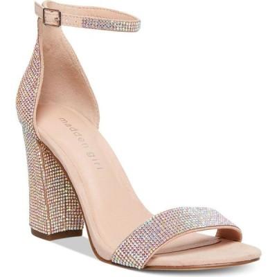 マッデン ガール Madden Girl レディース サンダル・ミュール シューズ・靴 Bella Two-Piece Block Heel Sandals Blush Rhinestone
