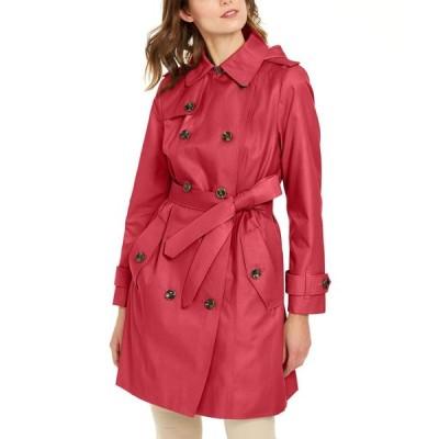 ロンドンフォグ London Fog レディース トレンチコート ダブルブレストコート フード アウター Double-Breasted Hooded Water-Repellent Trench Coat Hibiscus