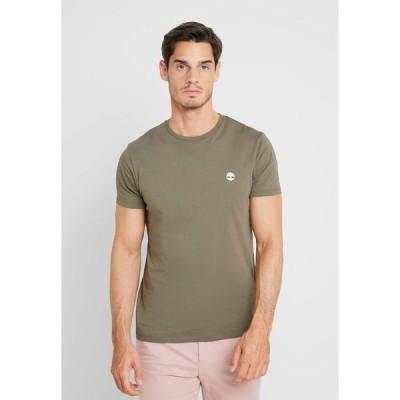 ティンバーランド Tシャツ メンズ トップス CREW CHEST - Basic T-shirt - grape leaf