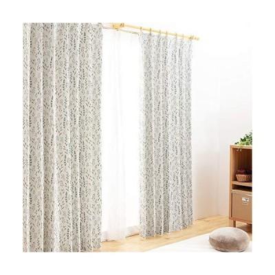 アイリスプラザ 遮光 カーテン 遮光2級 4枚セット(レースカーテン付) UVカット 断熱 保温 北欧 24デザイン 形状?