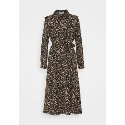 オンリー レディース ワンピース トップス ONLRIVANA CALF DRESS - Maxi dress - black/toasted coconut black/toasted coconut