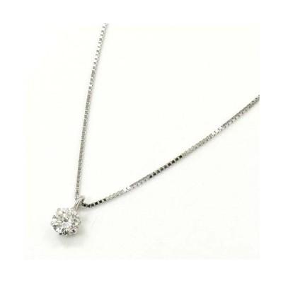 10金ホワイトゴールド ダイヤモンド(VS2 H)0.18カラットペンダント ネックレス送料無料  即納(4日前後発送)【R】