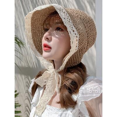 麦わら帽子 レディース 折たたみ つば広 ハット uvカット おしゃれ  帽子 つば広ハット 可愛い リゾート ワンサイズ