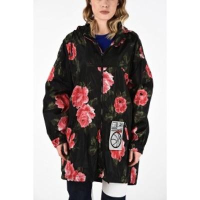 MAISON MARGIELA/メゾン マルジェラ Multicolor レディース MM0 Roses-Print Oversize Jacket with Hood dk