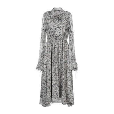 ロゼッタ・ゲッティ ROSETTA GETTY 7分丈ワンピース・ドレス グレー 0 シルク 100% 7分丈ワンピース・ドレス