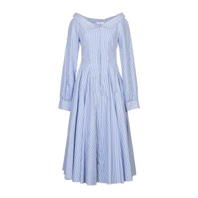 LUCILLE 7分丈ワンピース・ドレス スカイブルー 42 コットン 100% 7分丈ワンピース・ドレス