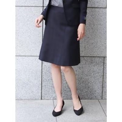 マルゾット/MARZOTTO ウール セットアップ フレアースカート 紺チェック