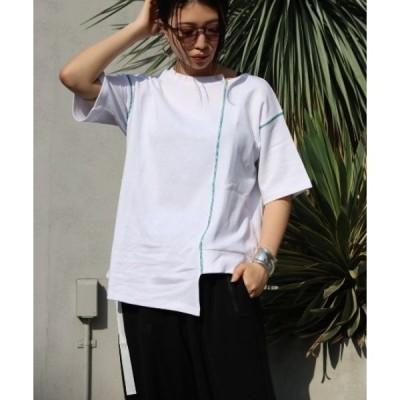 tシャツ Tシャツ 【別注】AULA AILA/アウラ アイラ/カラーステッチTシャツ