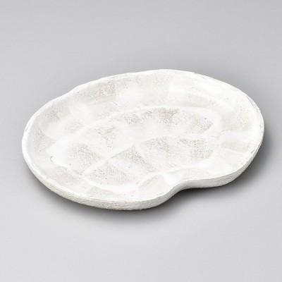 和食器 乳白志野 雲形皿 24.5×19.5×2.5cm 楕円皿 オーバル 焼き物 うつわ 陶器 おうち カフェ おしゃれ 軽井沢 春日井