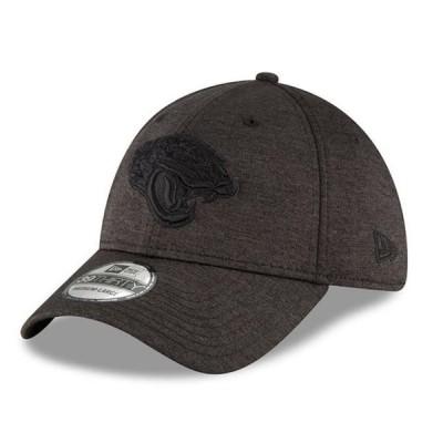 ユニセックス スポーツリーグ フットボール Jacksonville Jaguars New Era Heated Up 39THIRTY Flex Hat - Heathered Black 帽子