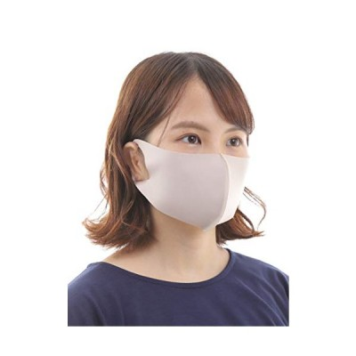 [onion cross] 洗える マスク 夏用 UV加工 吸汗速乾 抗菌作用 感染予防 d【ベージュ】