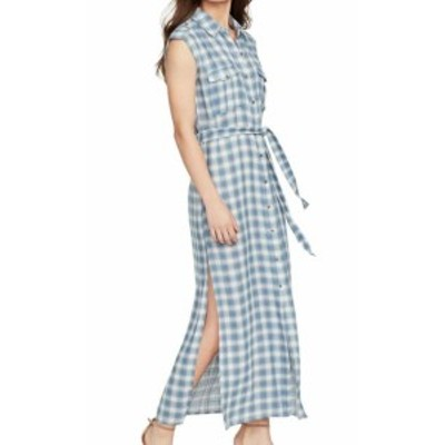 William Rast ウィリアムラスト ファッション ドレス William Rast Womens Dress Blue Size Small S Shirt Plaid Belted Maxi