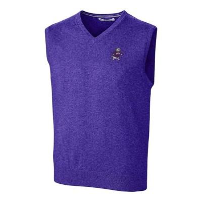 """メンズ ジャケット """"TCU Horned Frogs"""" Cutter - Buck Lakemont Vault Logo Vest - Purple"""