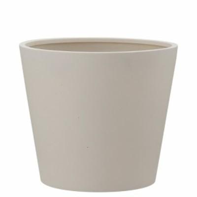【樹木への取付費込】 ポリッシュ コニック クリーム 40cm 12号 ポリストーンライト 丸鉢 鉢カバー ポット シンプル 軽量