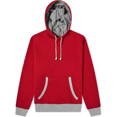 ビームス プラス Beams Plus メンズ パーカー トップス Contrast Rib Hoody Red/Grey