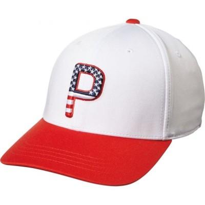 プーマ PUMA メンズ 帽子 2020 P110 Stars & Stripes Golf Hat White