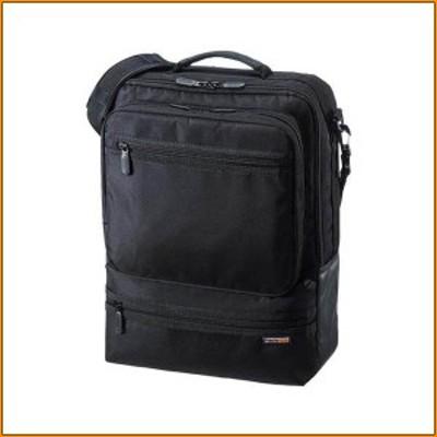 (送料無料)3WAYビジネスバッグ(縦型・通勤用) BAG-3WAY23BK ▼リュック、ショルダー、手提げの軽量3WAYビジネスバッグです