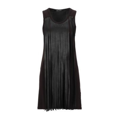 ニール・バレット NEIL BARRETT ミニワンピース&ドレス ダークブラウン S ポリエステル 100% / アクリル / ナイロン / ポリ