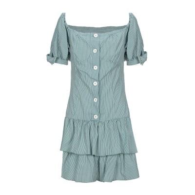 VIVETTA ミニワンピース&ドレス グリーン 42 コットン 67% / ナイロン 29% / ポリウレタン 4% ミニワンピース&ドレス