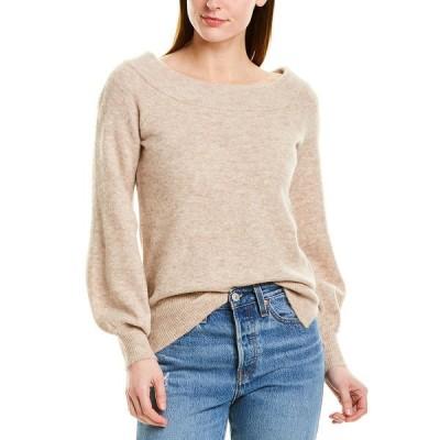 525アメリカ シャツ トップス レディース 525 America Off-the-Shoulder Alpaca & Wool-Blend Sweater doe