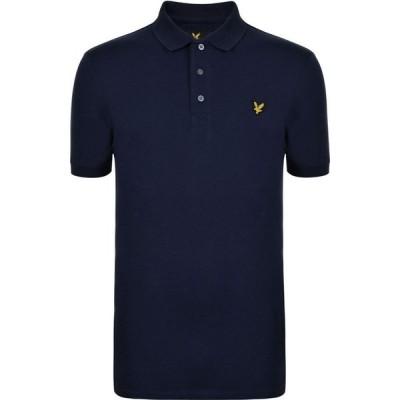ライル アンド スコット Lyle and Scott メンズ ポロシャツ 半袖 トップス Lyle And Scott Basic Short Sleeve Polo Shirt Navy Z