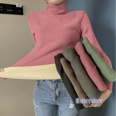 おしゃれ 上品 カットソー レディース 大人 無地 トップス 着痩せ セーター 長袖 裏起毛 ニットウェア 新品 冬 暖かい ニットセーター