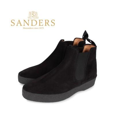 【スニークオンラインショップ】 SANDERS サンダース チェルシー サイドゴアブーツ 靴 メンズ ビジネス ADAM CHELSEA BOOT Fワイズ ブラック 黒 1701BS メンズ その他 GB8.0-27.0 SNEAK ONLINE SHOP