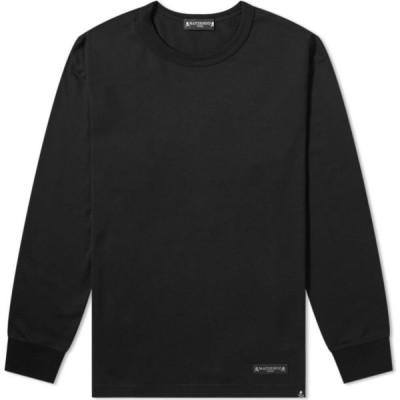 マスターマインド MASTERMIND WORLD メンズ 長袖Tシャツ トップス Cursive Long Sleeve Tee Black