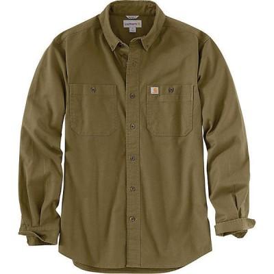 (取寄)カーハート メンズ ラギット フレックス リグビー ロングスリーブ ワーク シャツ Carhartt Men's Rugged Flex Rigby LS Work Shirt Military Olive