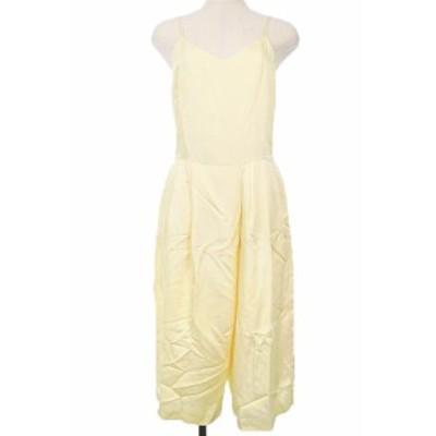 【中古】スタニングルアー STUNNING LURE オールインワン サロペット パンツ ワイド キャミソール 1 黄色 レディース