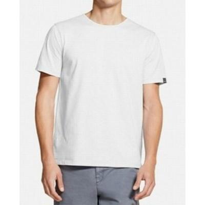DKNY ダナキャランニューヨーク ファッション トップス DKNY Mens White Size Large L Mercerized Solid Crewneck Tee T-Shirt