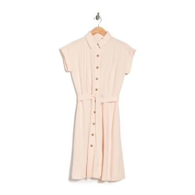 カルバンクライン レディース ワンピース トップス Linen Blend Shirt Dress BLOSSOM