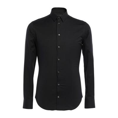 エンポリオ アルマーニ EMPORIO ARMANI シャツ ブラック 42 コットン 98% / ポリウレタン 2% シャツ