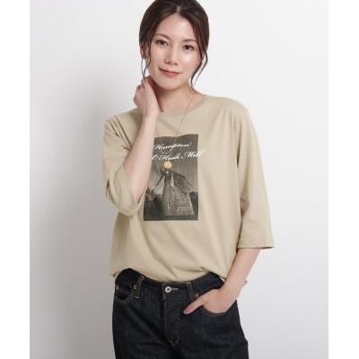 Dessin(Ladies)(デッサン(レディース)) 【S~Lサイズあり・洗える】汗染み軽減プリントTシャツ