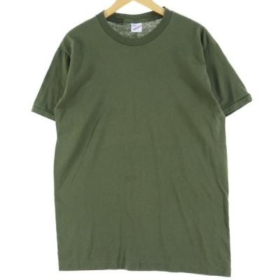 80〜90年代 DUKE 無地Tシャツ USA製 メンズL /eaa051562