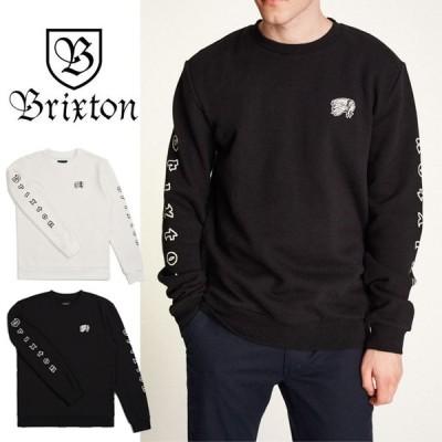 ブリクストン トレーナー 長袖 BRIXTON PRIMO CREW スウェット 長袖トレーナー 白 黒 0805
