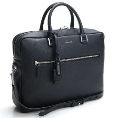 【新品】 サンローラン SAINT LAURENT ブリーフケース 656670 DTI0E 1000 ブラック bos-14 bag-01 メンズ