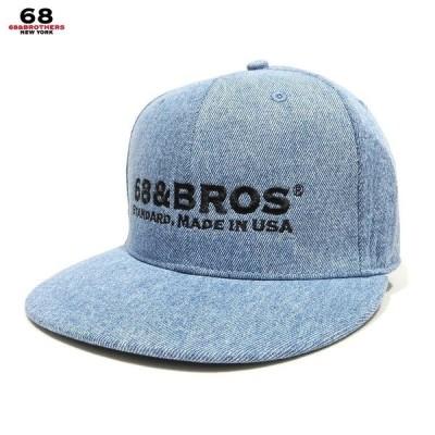 "68&BROTHERS 68&ブラザーズ 帽子 キャップ Denim Snap Back Cap ""STANDARD"" スナップバックキャップ フラットキャップ デニムキャプ"